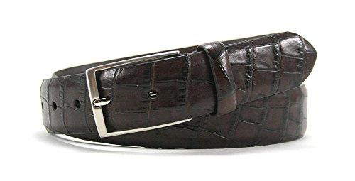 Bill Lavin Belts (Leather Island 35mm Embossed Italian Black Leather)