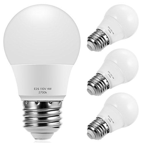 LED A15 Globe Light Bulbs 25 Watts Equivalent, SmartinLiving 4W LED Bulb Soft White 2700K, E26 Medium Screw Base 320 Lumens A15 shape Decorative Edison Home Lighting Non-Dimmable (Pack of 4)