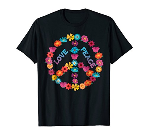 Inspired Peace Sign - Vintage Inspired Love Peace Sign Flower Shirt