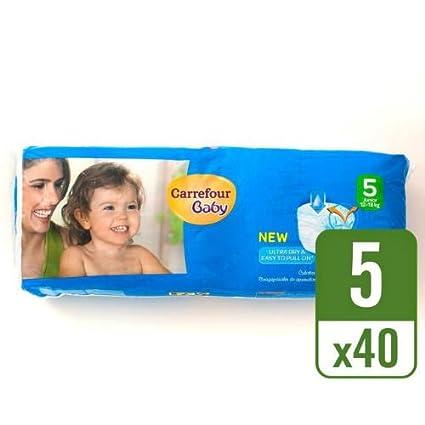 Carrefour bebé Ultra Dry Pull On tamaño 5 unidades esenciales pañales de 40 funda de 8
