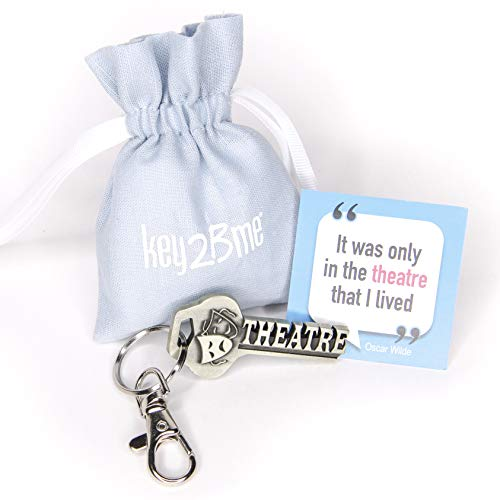 key2Bme Theatre Key - Muse Comedy Tragedy mask Actor Actress Keychain & Inspirational Quote - The Unique Small Gift Under $10 for Giving Drama Teacher Musical Theatre Broadway Shakespeare