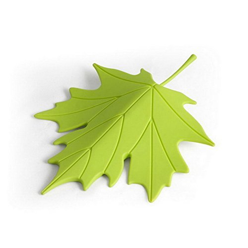 Door Stopper Wedge Autumn by Qualy Design Studio. Leaf Shape. Design Oriented and Functional Door Stop. Great Housewarming Gift. Made of Plastic. Green Color.