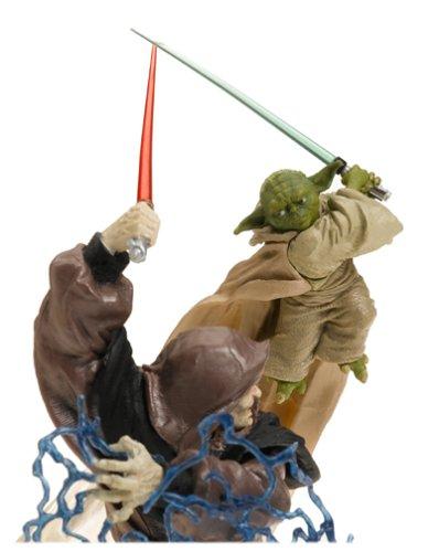 Star Wars Unleashed 10 Quot Inch Statue Figure Yoda Vs Darth