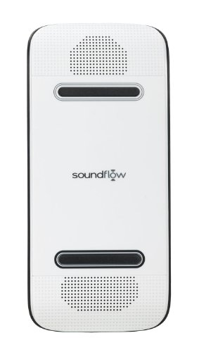 Soundflow Soundboard Wireless Portable Speaker presto, no pairing, no wires, no setup! (SP20WHBK in White)