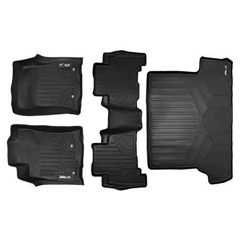 Behind 2nd Seat - MAX LINER A0120/B0040/D0120 Floor Mats and Cargo Liner Behind 2nd Set Black for 2013-2019 Toyota 4Runner 7 Passenger with 3rd Row Seats