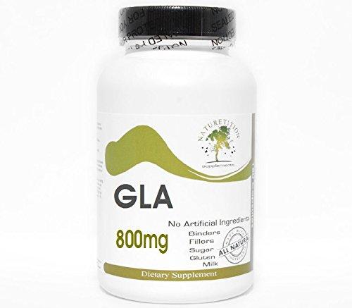 GLA Gamma Linolenic Acid 800mg ~ 100 Capsules - No Additives ~ Naturetition Supplements