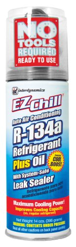 Interdynamics (SD-134CA-12PK) EZ Chill R-134a Refrigerant with Oil and Leak Sealer - 13 oz., (Pack of 12) by Interdynamics