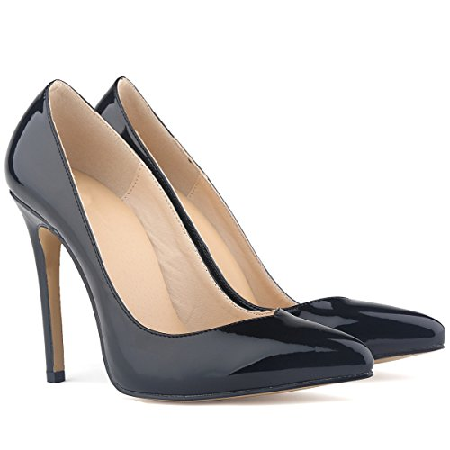 Toe Shoes Women's Pumps High SAMSAY Black Heels Pointed Dress Stiletto FnxIwfgRUq