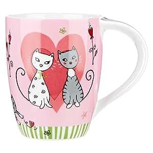 Coffee and Tea Porcelain Mug, Pink