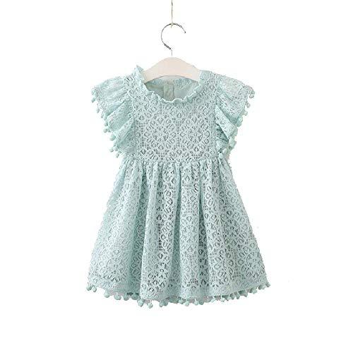 SAFJK Aile Rabbit Summer Lace Girls Dress Baby Girls Casual Dresses Children's Clothing Infantis Toddler Girl Light Blue 202366 4T -