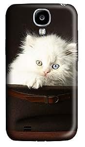 Samsung S4 Case Cute Pets White Cat 3D Custom Samsung S4 Case Cover