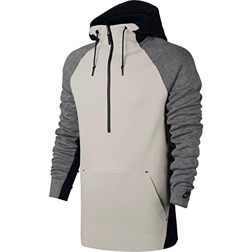 Nike Tech Felpa Mezza Zip con Cappuccio Uomo Grigio/Nero/Panna