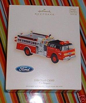 Hallmark Keepsake Christmas Tree Ornament - 1988 Ford C8000 Fire Brigade - 2007