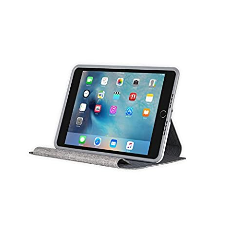 OtterBox SYMMETRY SERIES FOLIO Case for iPad Mini 4 (ONLY) - Retail Packaging - GLACIER STORM (WHITE/GUNMETAL (Ipad 4 Folio)