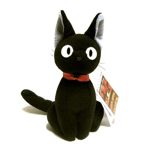 """Kiki's Delivery Service 8"""" Tall Black Cat Plush Doll (Up Right) from Kiki's Delivery"""