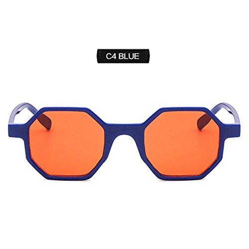 De 90 De Pequeñas Poligonales Blue Mujeres Rosa S Retro Gafas Gafas Octagon Sol Hembra Sol Gafas Cuadradas KLXEB Tonos De Sol C7tqzxn