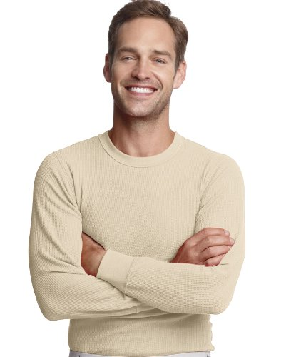 (Hanes Men's X-Temp Thermal Long-Sleeve Top, Natural,)