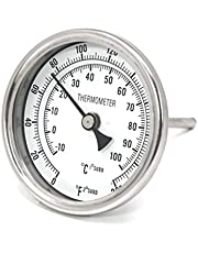 """CONCORD 3"""" Stainless Steel Thermometer for Home Brewing (2"""" Stem)"""