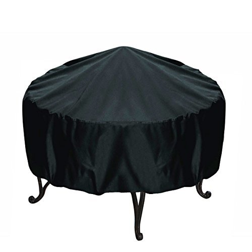 30-inch Round Fire Pit Cover, Black