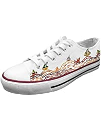 """<span class=""""a-offscreen"""">[Sponsored]</span>Official Men Shake Wave Low Top Rubber Sole Casual Canvas Sneaker Shoes"""