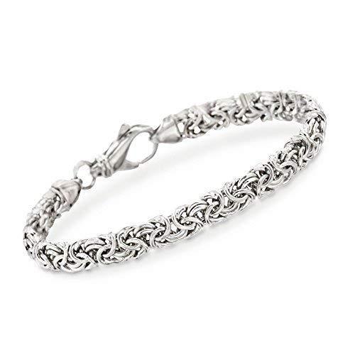 (Ross-Simons Sterling Silver Byzantine Bracelet)