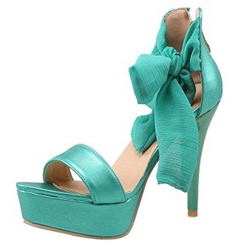 Allacciati Scarpe Fashion A Da Sandali Coolcept Spillo Verde Open Donna Toe 5x0FIwn