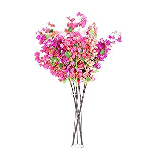 MARJON FlowersArtificial Flowers Bougainvillea, Fake Flowers Silk Artificial Bougainvillea Flowe Heads Bridal Wedding Bouquet for Home Garden Party Wedding Decoration Random Color 12