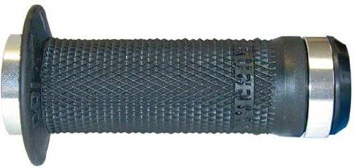 Odi BMX Lock-On Ruffian Mini Grips Bonus Pack with Plugs, Black, 100mm