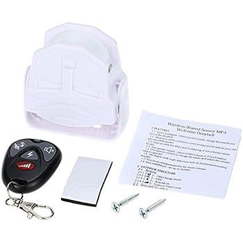 Wireless Infrared Sensor MP3 Welcome Guest Doorbell Sensor Alarm Motion Detector Automatic Body Sensing Alarm Remote