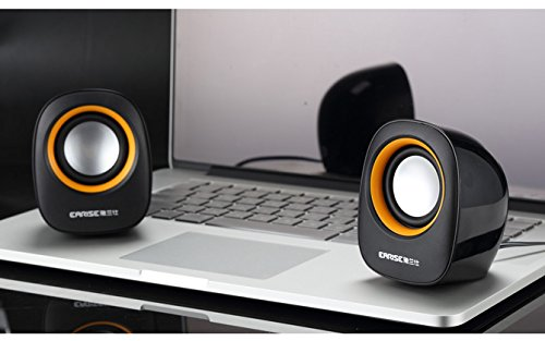 Earise AL-101 3.5mm Mini Computer Speakers Powered by USB Black by Earise (Image #6)