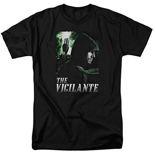 Arrow TV Show The Vigilante DC Domics T Shirt & Exclusive Stickers (Small) Black (Arrow Shirt Dc)
