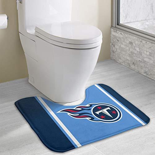 (Marrytiny Custom Colourful Non Slip U-Shaped Toilet Bath Rug Tennessee Titans Football Team Anti-Bacterial Floor Contour Doormat Shower Mat Bathroom Carpet 19.3 x 15.7 Inches)