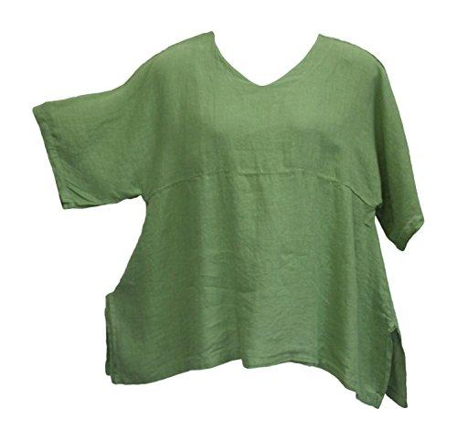 Match Point Women's Turtle Linen Kimono Tunic Oversized (Match Point)