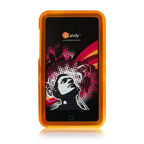 iCandy Rave Polycarbonate Cases for 2nd & 3rd Generation iPod touch 2G 3G - ORANGE