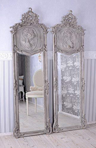 Zwei Spiegel Shabby Chic Wandspiegel Rokoko Frauenbüste Antik ...
