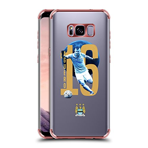 Official Manchester City Man City FC Sergio Kun Agüero Various Designs Rose Shockproof Fender Case for Samsung Galaxy S8+ / S8 (Sergio Rose)