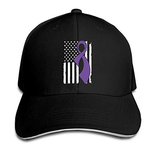 Men's Women's Custom Pancreatic Cancer Awareness Flag Trucker Hats Adjustable Plain Baseball Cap