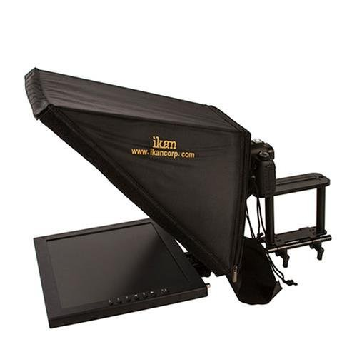 Ikan PT3700 17-Inch Rod Based Location/Studio Teleprompter (Black) (Renewed)