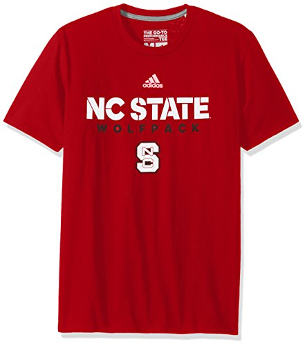 Nc State Wolfpack Baseball - NCAA North Carolina State Wolfpack Adult Men Sideline 2017 Go-To Performance S/Tee, Large, Power Red