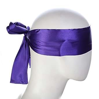 HOT TIME Satin Eye Mask Blindfold (purple)