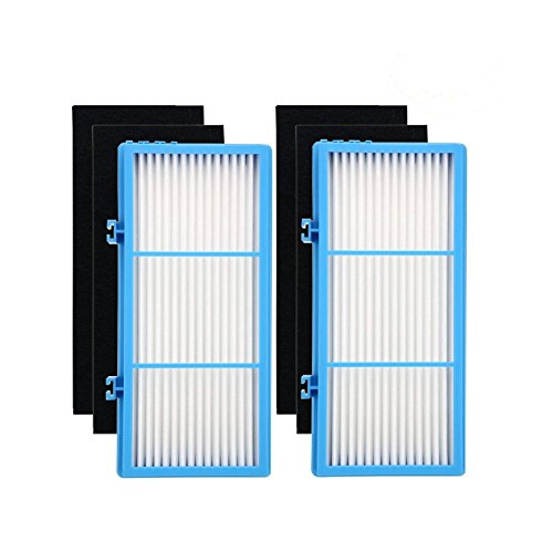 Ximoon 2 Pack Air Purifier HEPA Type Total Air Filters for Holmes AER1, HAPF30AT, HAP242-NUC Air Purifier Filter AER1 Series; 2 HEPA Filter + 4 Carbon Booster Filters by Ximoon