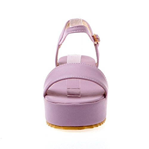Coolcept Women Comfy Flatform Sandals Shoes Purple NVjuzr2rar