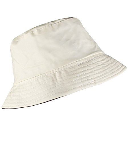 Womens' Summer Hats All White Bucket Hat Womens Rain Hat Foldable Beach (Ladies Fit Cap)