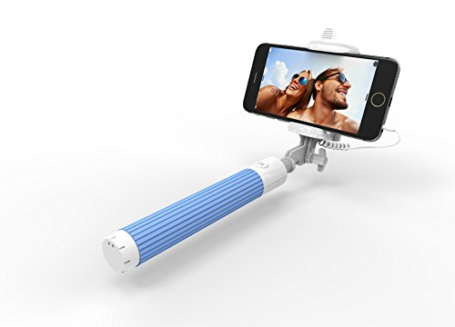 kiwii selfie stick with built in remote shutter with adjustable phone holder for iphone 6. Black Bedroom Furniture Sets. Home Design Ideas
