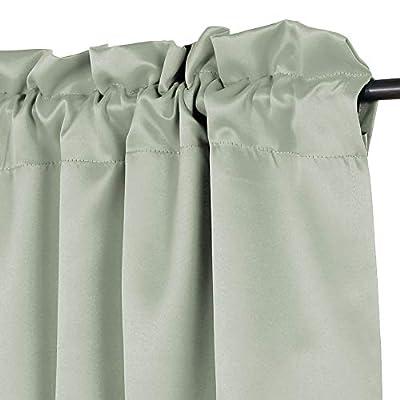 H.VERSAILTEX Blackout Room Darkening Window Curtain Valance, 52 inch x 18 inch