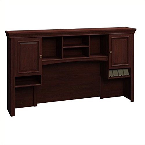 Bush Tall Hutch, 72-Inch by 12-1/2-Inch by 41-1/4-Inch, Harvest Cherry by Bush