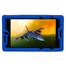Bobj Rugged Case for NVIDIA Shield Tablet K1 - BobjGear Custom Fit - Patented Venting - Sound Amplification - BobjBounces Kid Friendly (Batfish Blue)