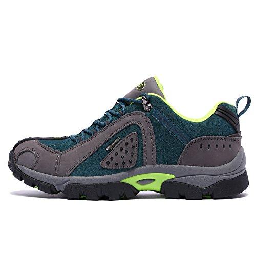 Randonne Trekking Basse Marche Air Lacets drapant Hommes Plein Indigo Et Cuir Taille Anti Confortable De Pour Chaussures Lger Tfo Impermable En gqBw75U8