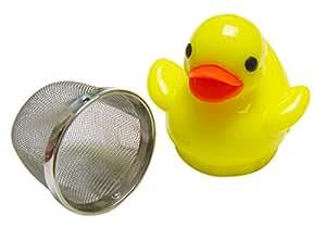 DCI Tea Infuser, Floating Ducky Tea Infuser,Yellow/Blue