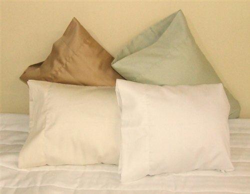 12x18 Pillowcase 100% cotton Perfect for ''MyPillow Go Anywhere Pillow'' Travel size, Toddler size Pillowcase 12x18 Color: White